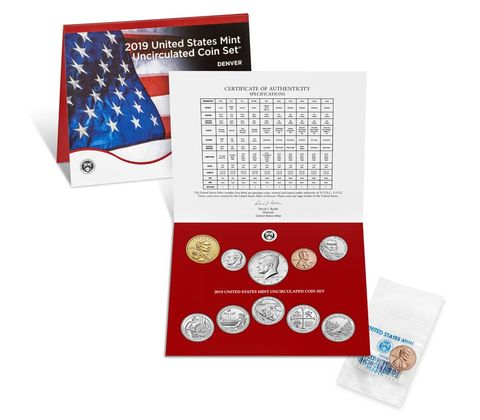 2019 uncirculated coin set press release graphic