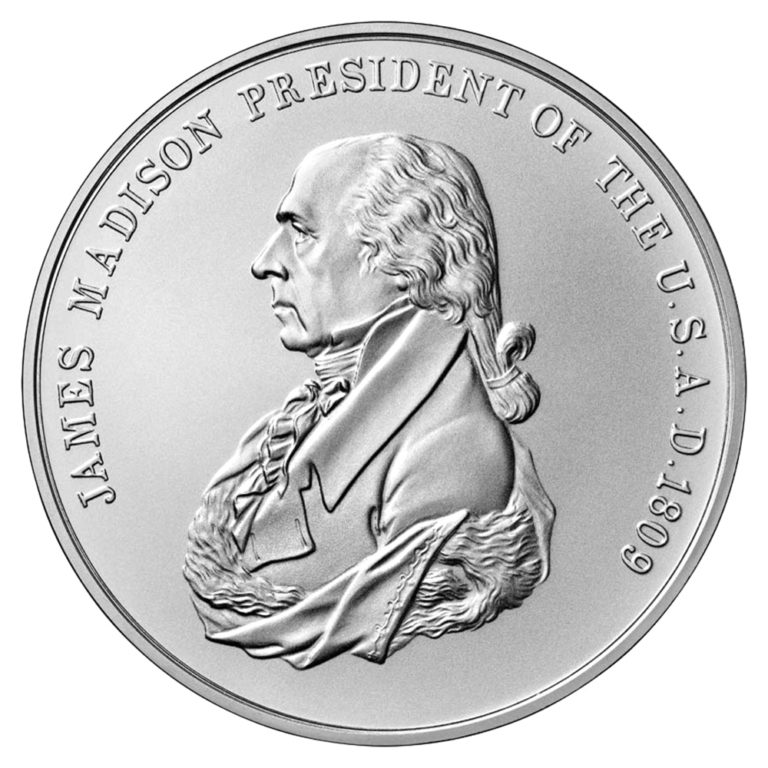 James Madison Presidential Silver Medal Obverse