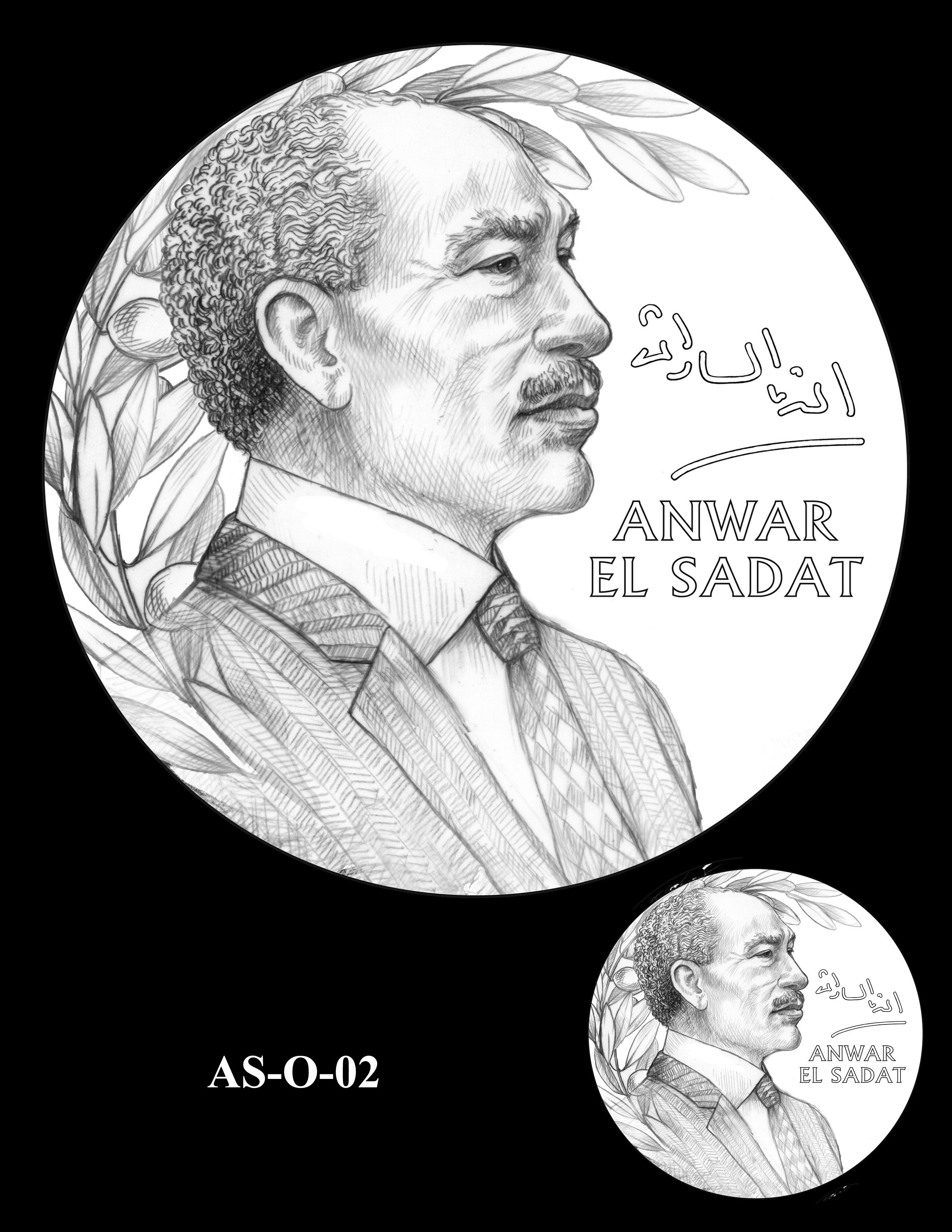 AS-O-02 -- Anwar El Sadat CGM Obverse