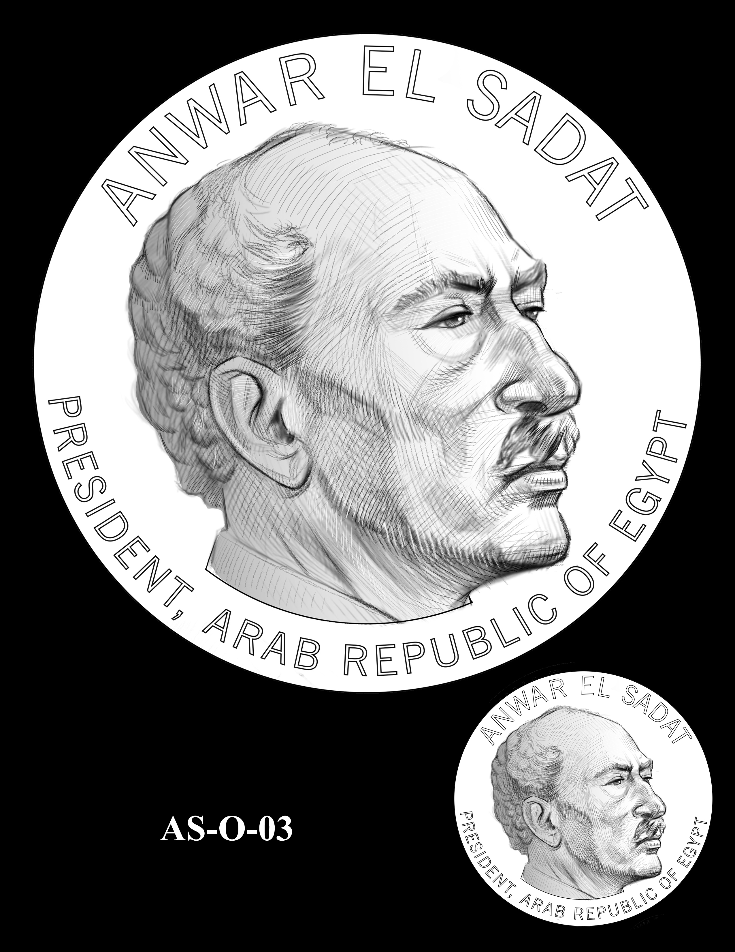 AS-O-03 -- Anwar El Sadat CGM Obverse