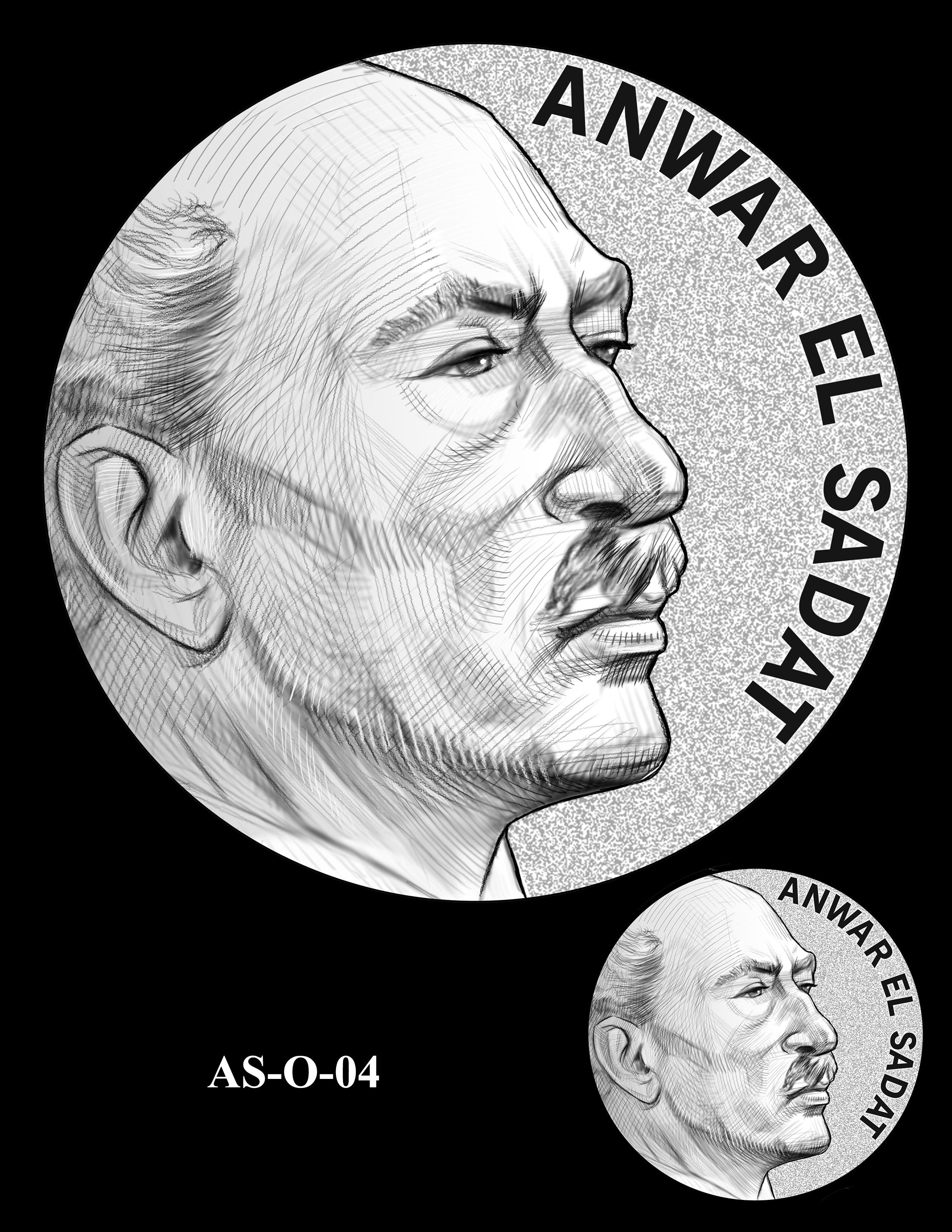 AS-O-04 -- Anwar El Sadat CGM Obverse