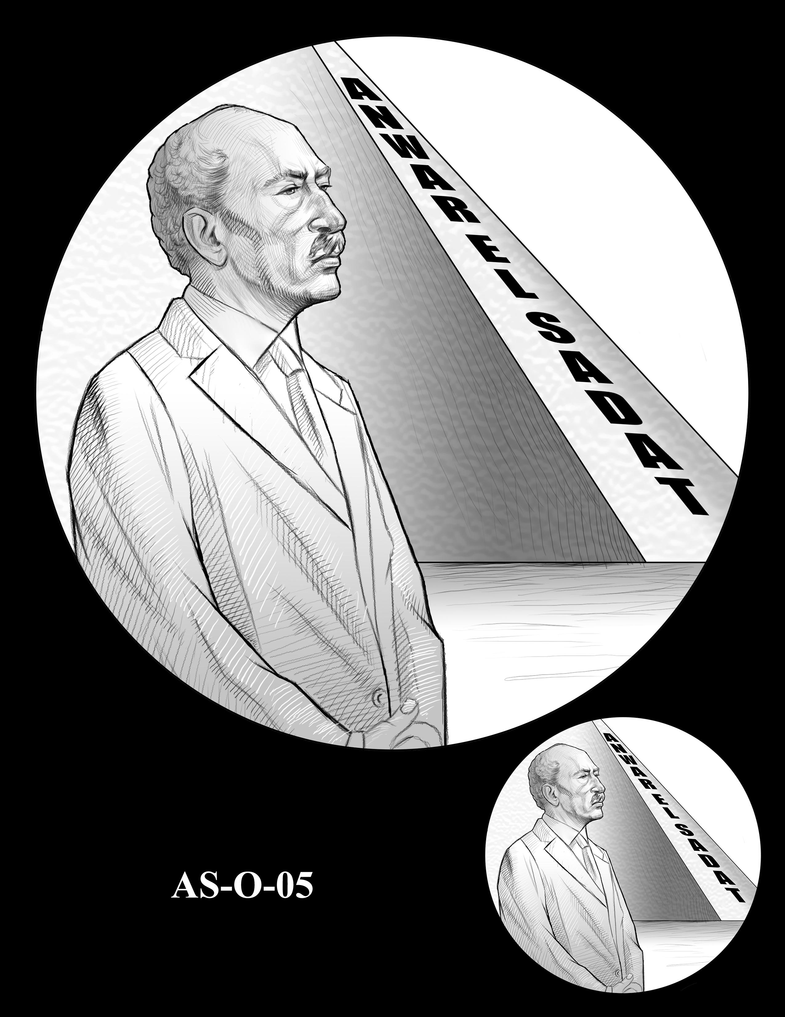 AS-O-05 -- Anwar El Sadat CGM Obverse