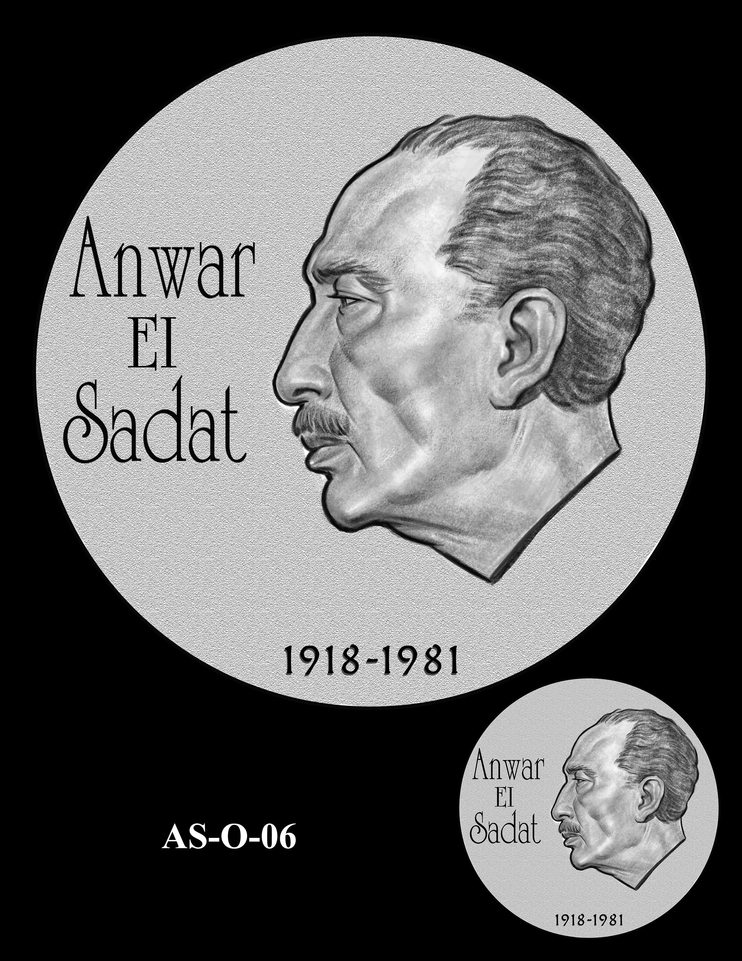 AS-O-06 -- Anwar El Sadat CGM Obverse