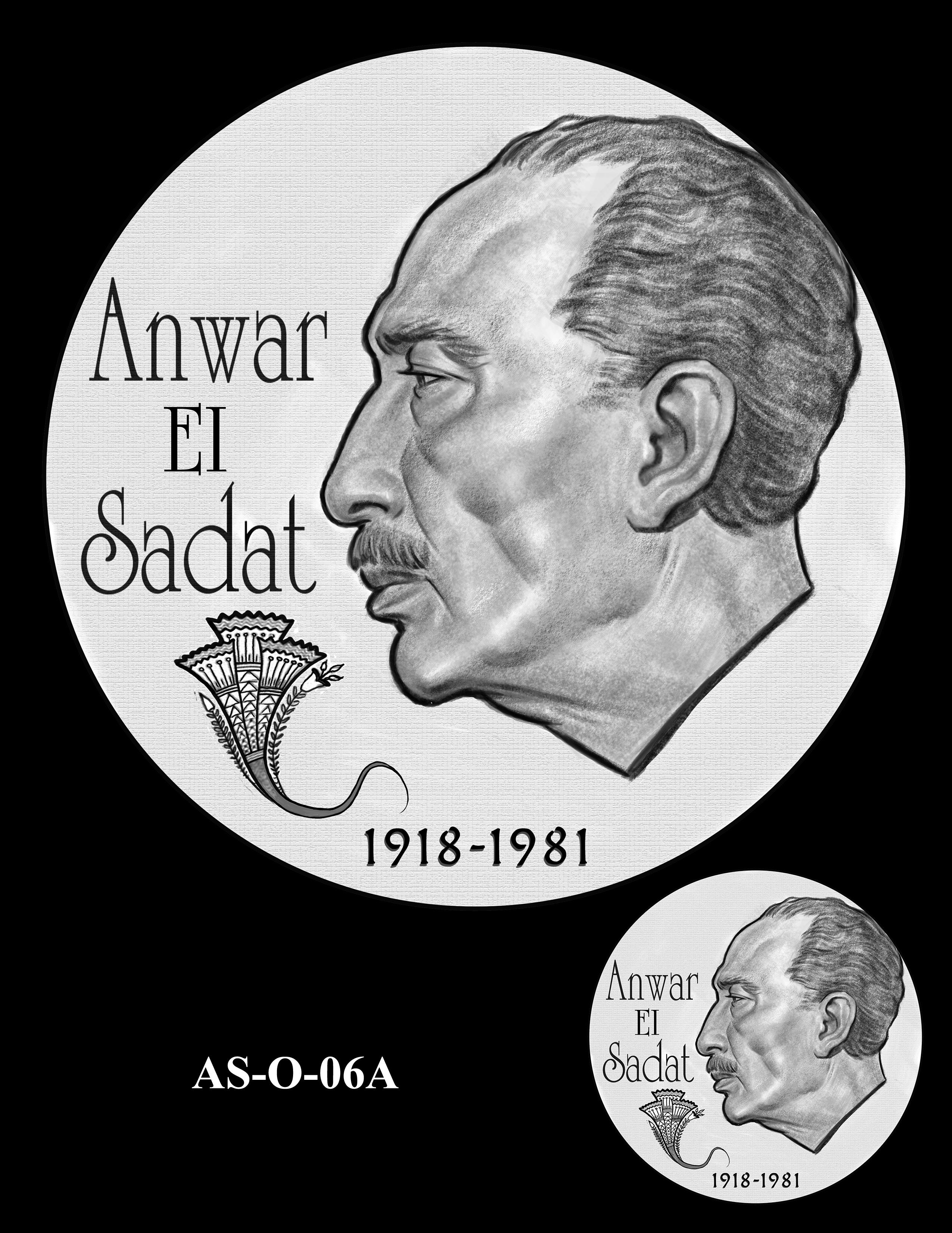 AS-O-06A -- Anwar El Sadat CGM Obverse