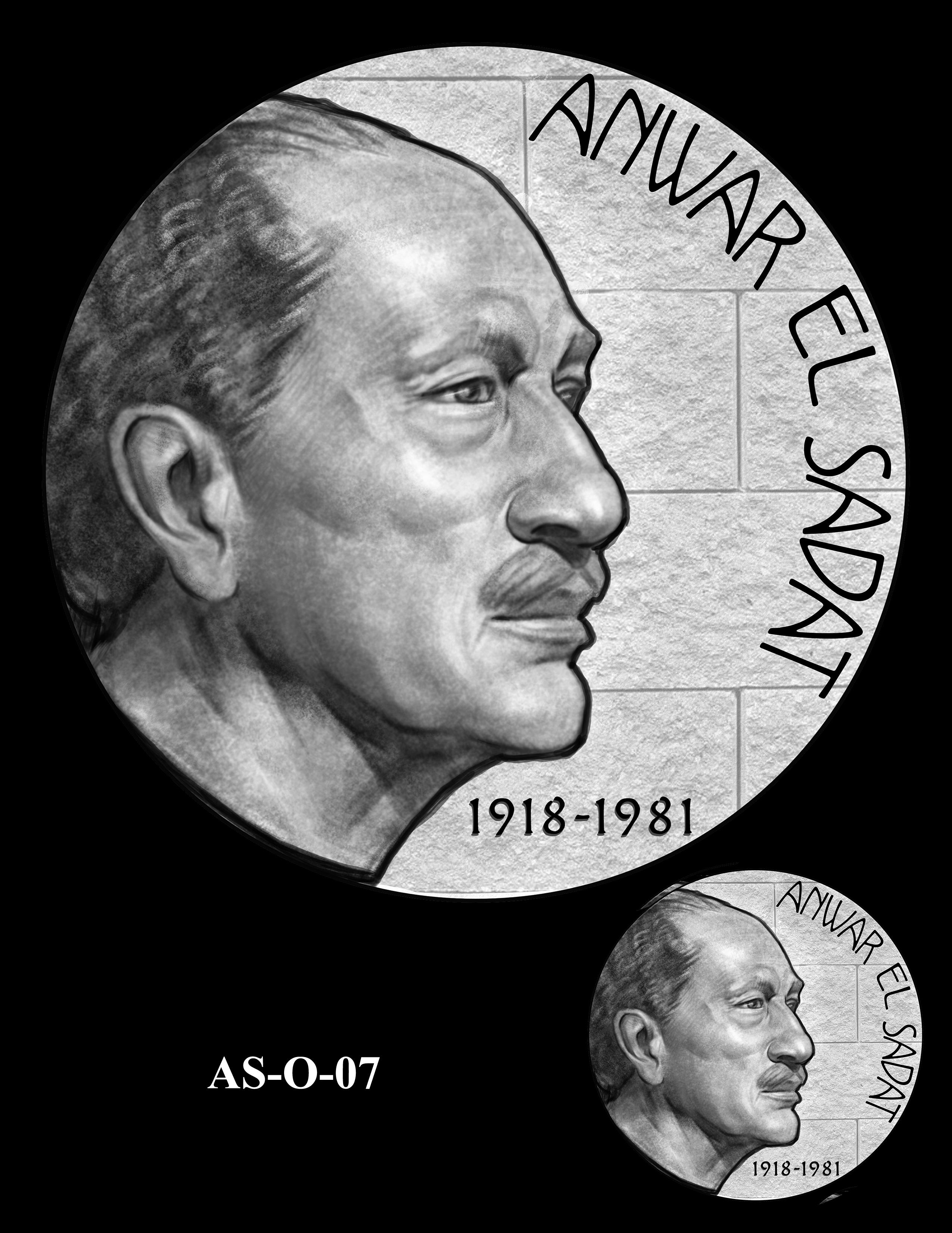 AS-O-07 -- Anwar El Sadat CGM Obverse
