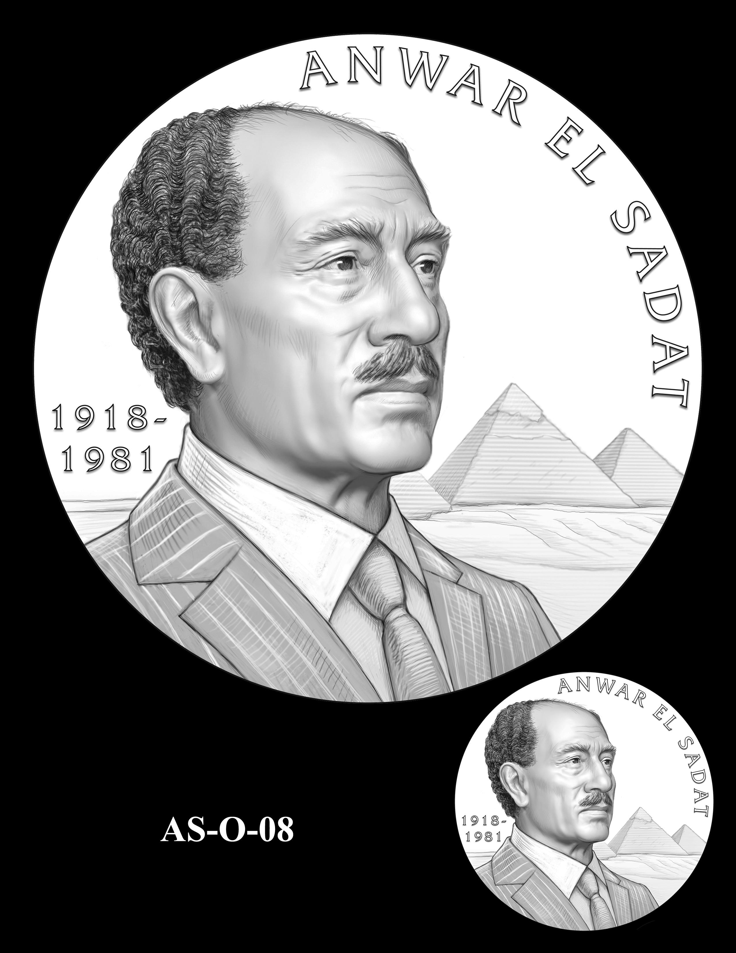 AS-O-08 -- Anwar El Sadat CGM Obverse