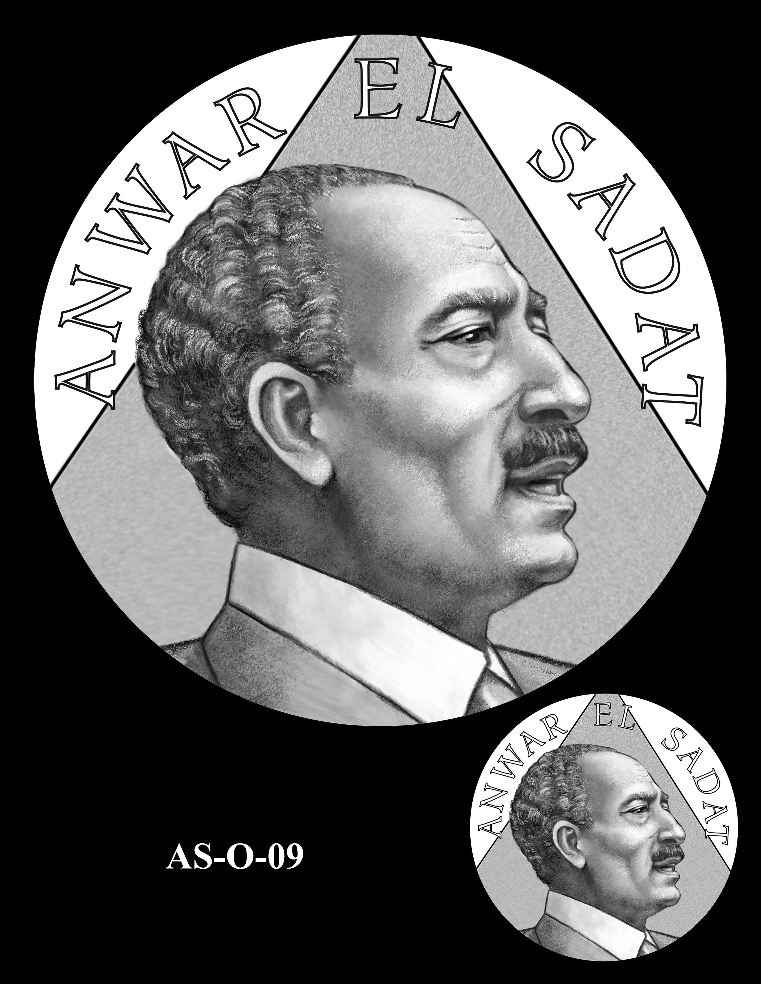 AS-O-09 -- Anwar El Sadat CGM Obverse