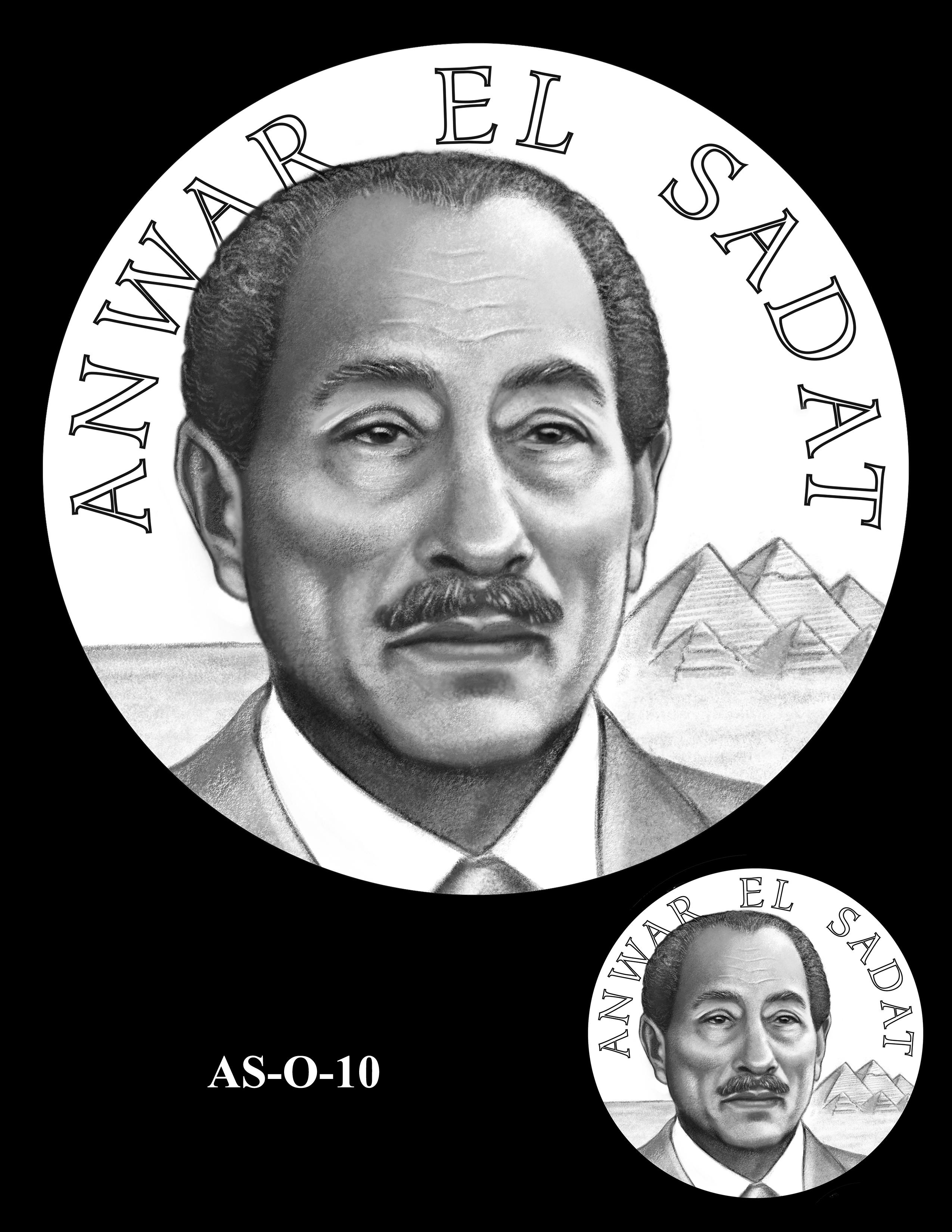 AS-O-10 -- Anwar El Sadat CGM Obverse