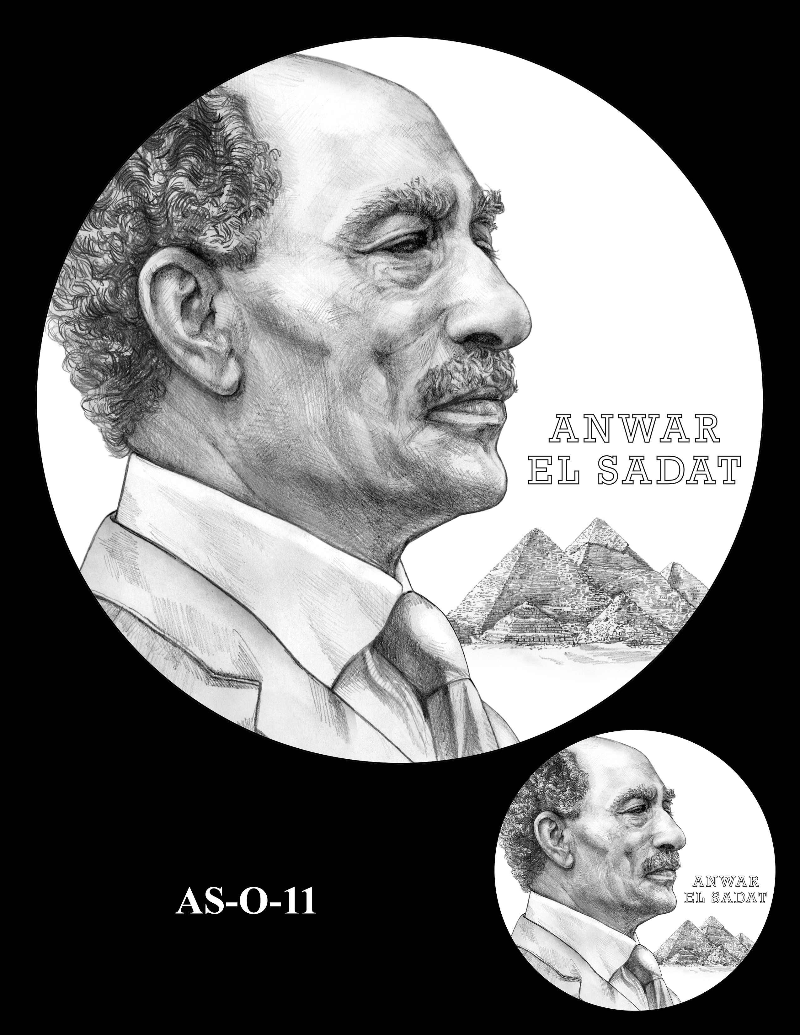 AS-O-11 -- Anwar El Sadat CGM Obverse