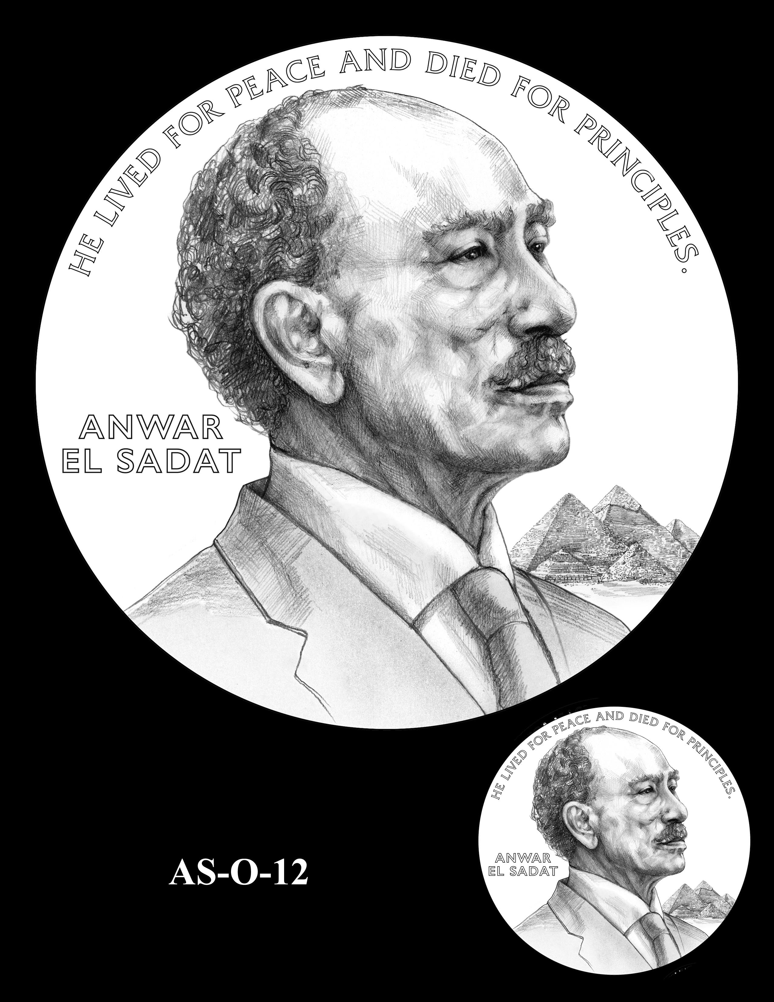 AS-O-12 -- Anwar El Sadat CGM Obverse