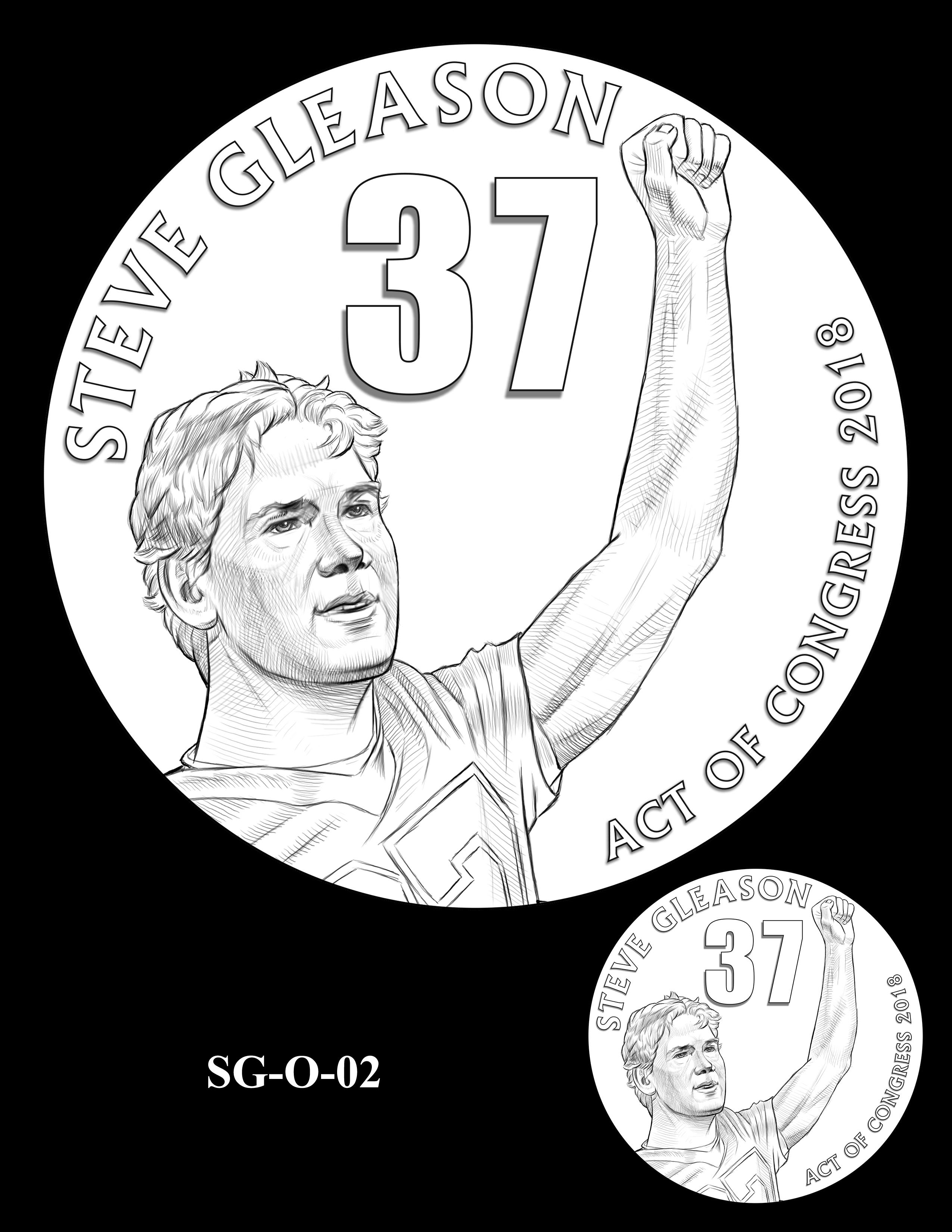 SG-O-02 -- Steve Gleason CGM Obverse