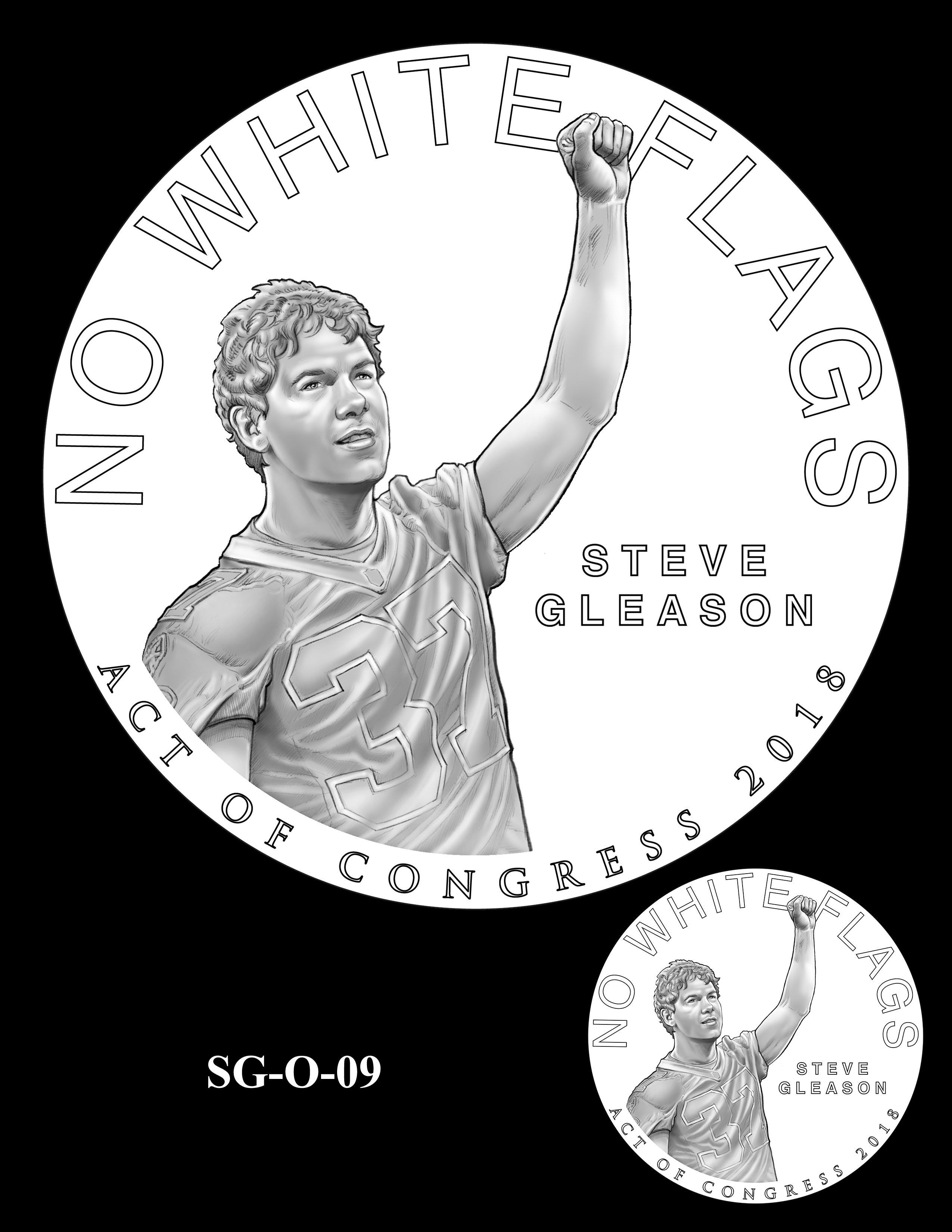 SG-O-09 -- Steve Gleason CGM Obverse