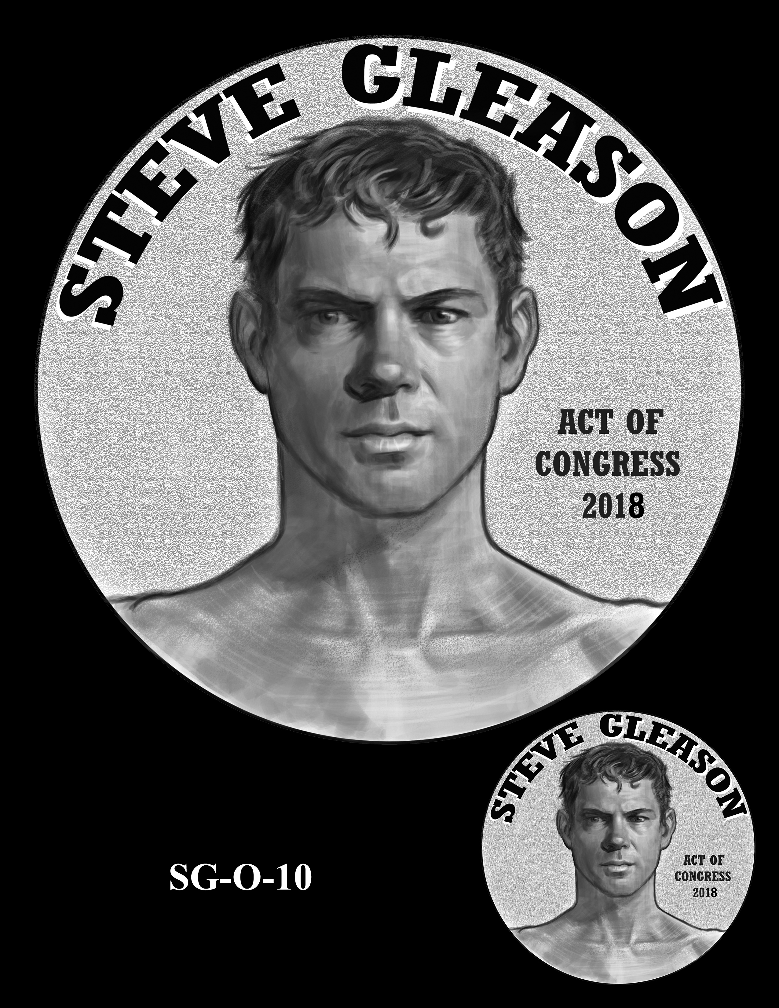 SG-O-10 -- Steve Gleason CGM Obverse