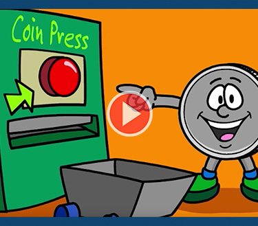 Kids Video How Coins Are Made Cartoon homepage feature