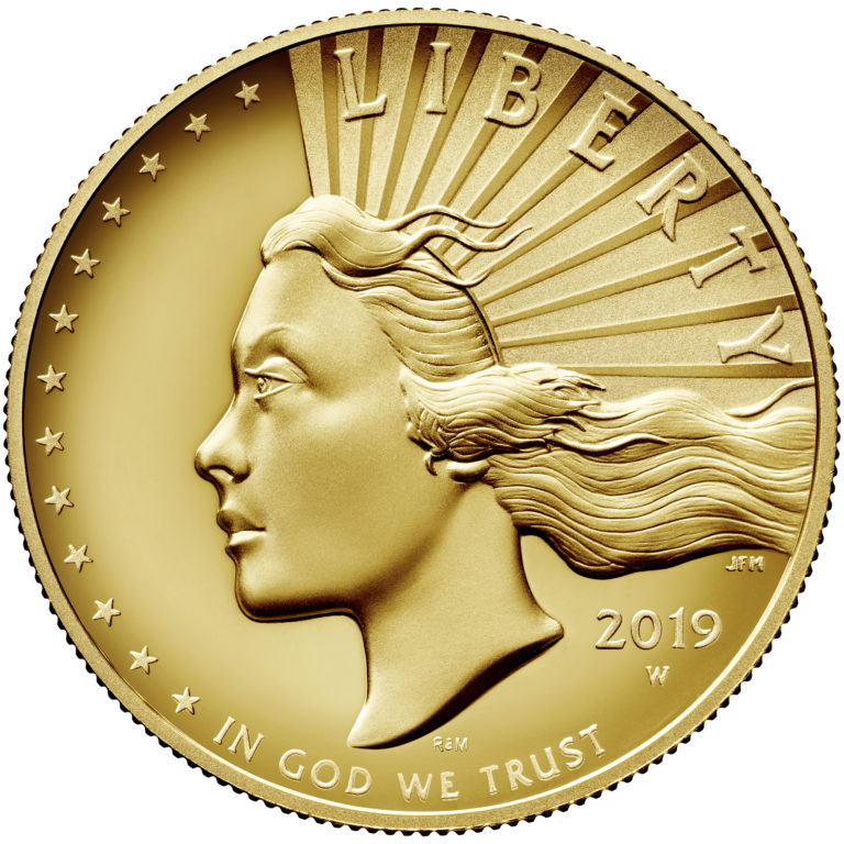 2019 American Liberty High Relief Gold Coin Obverse