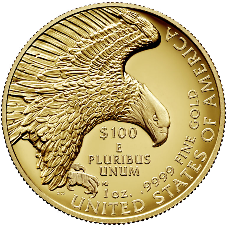 2019 American Liberty High Relief Gold Coin Reverse