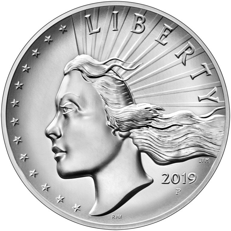 2019 American Liberty High Relief Silver Medal Obverse