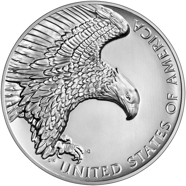 2019 American Liberty High Relief Silver Medal Reverse