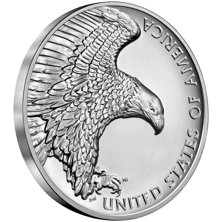 2019 American Liberty High Relief Silver Medal Reverse Angle