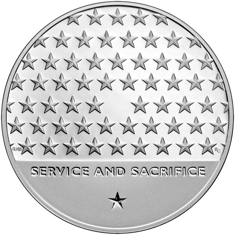 2019 American Veterans Silver Medal Reverse