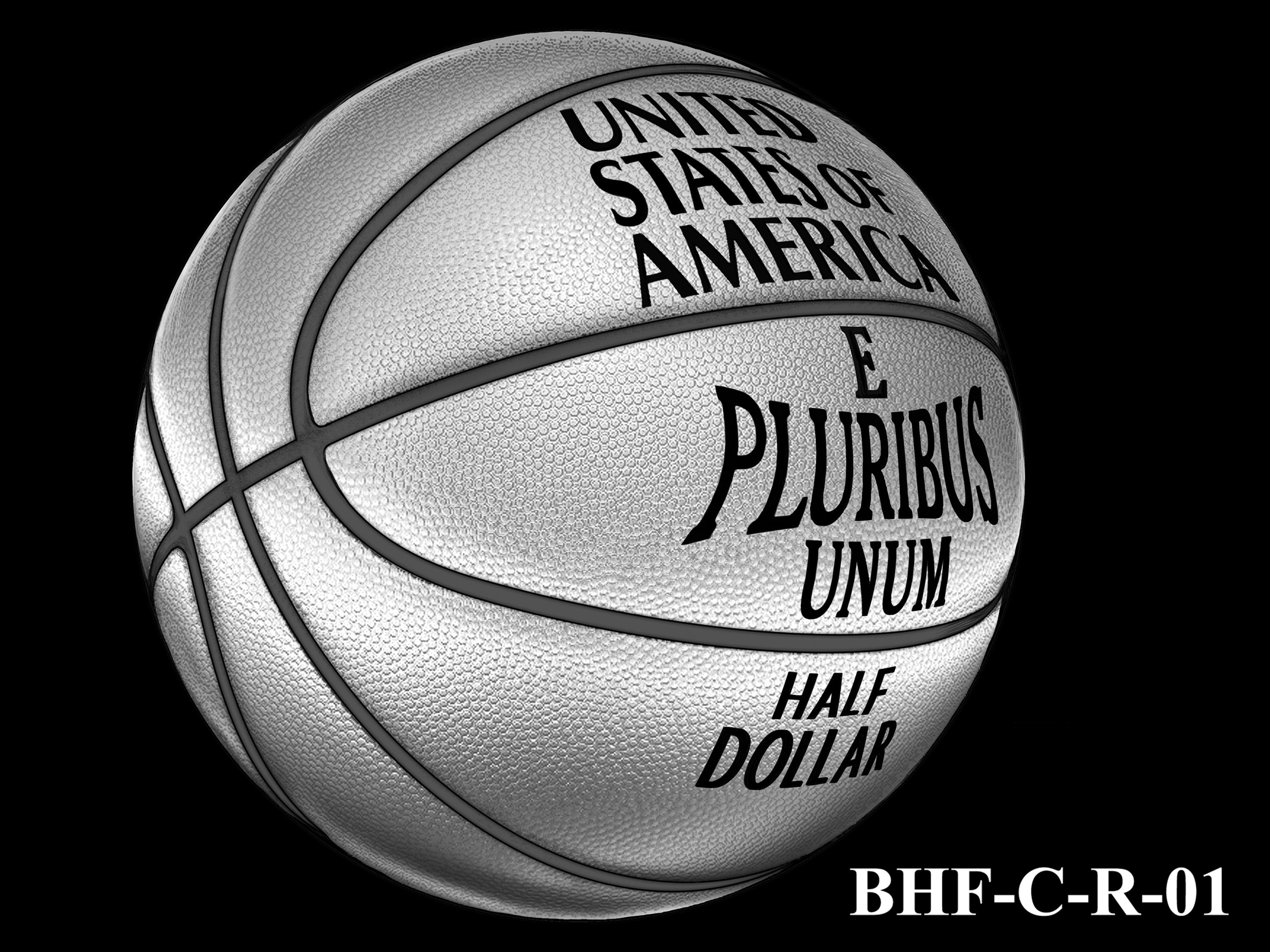 BHF-C-R-01 -- 2020 Basketball Hall of Fame Commemorative Coin Program - Clad Reverse