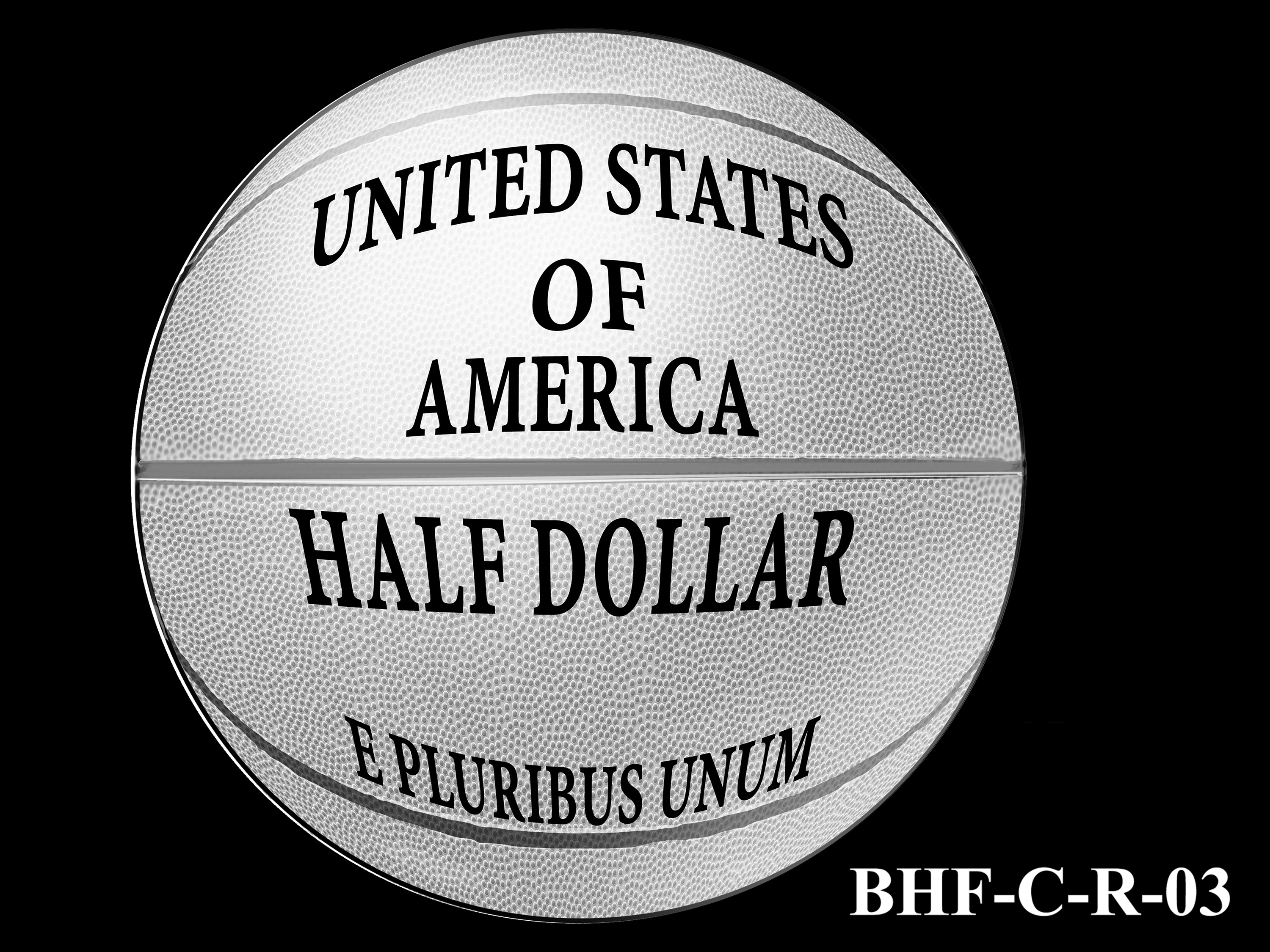 BHF-C-R-03 -- 2020 Basketball Hall of Fame Commemorative Coin Program - Clad Reverse