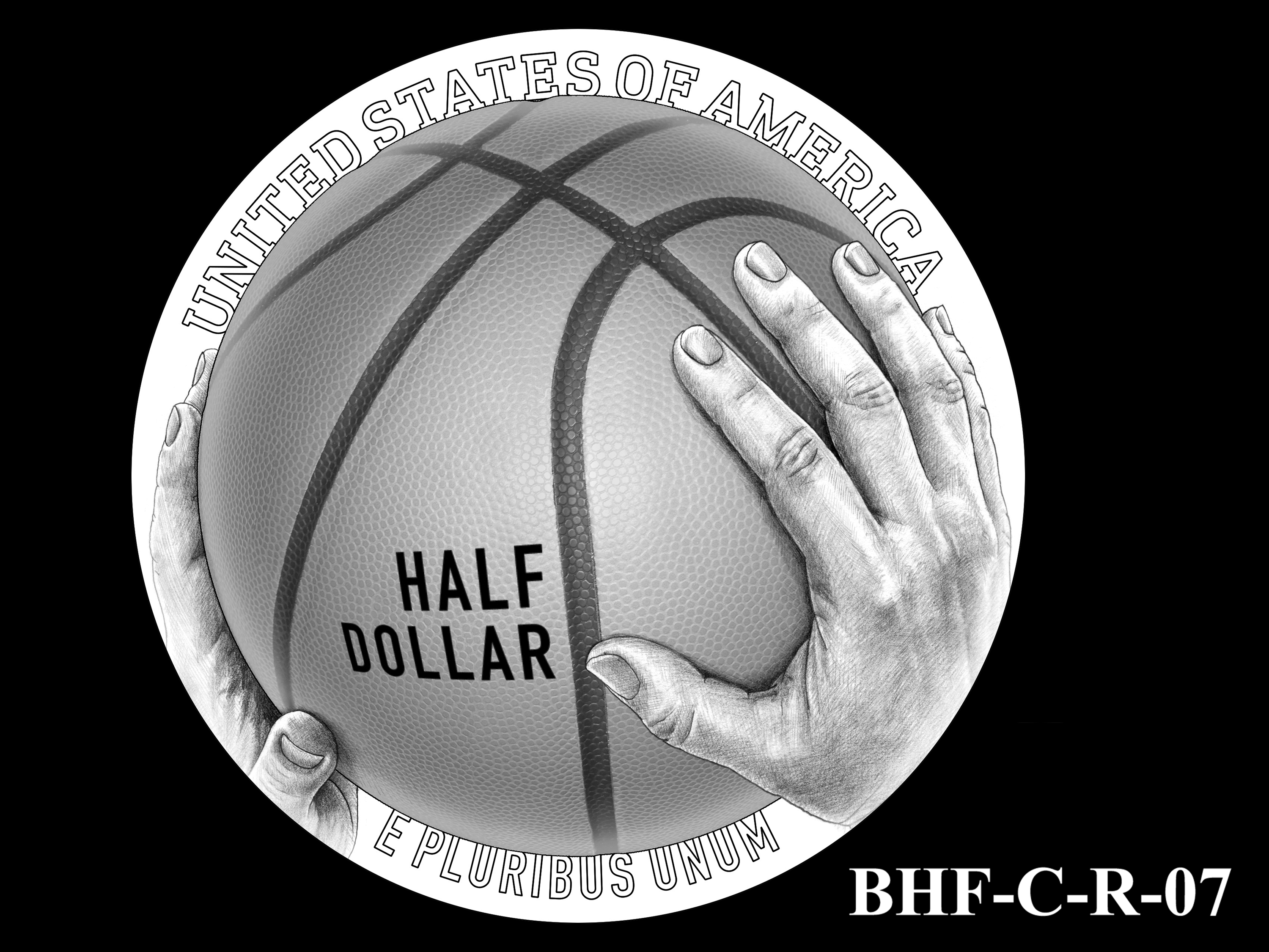 BHF-C-R-07 -- 2020 Basketball Hall of Fame Commemorative Coin Program - Clad Reverse