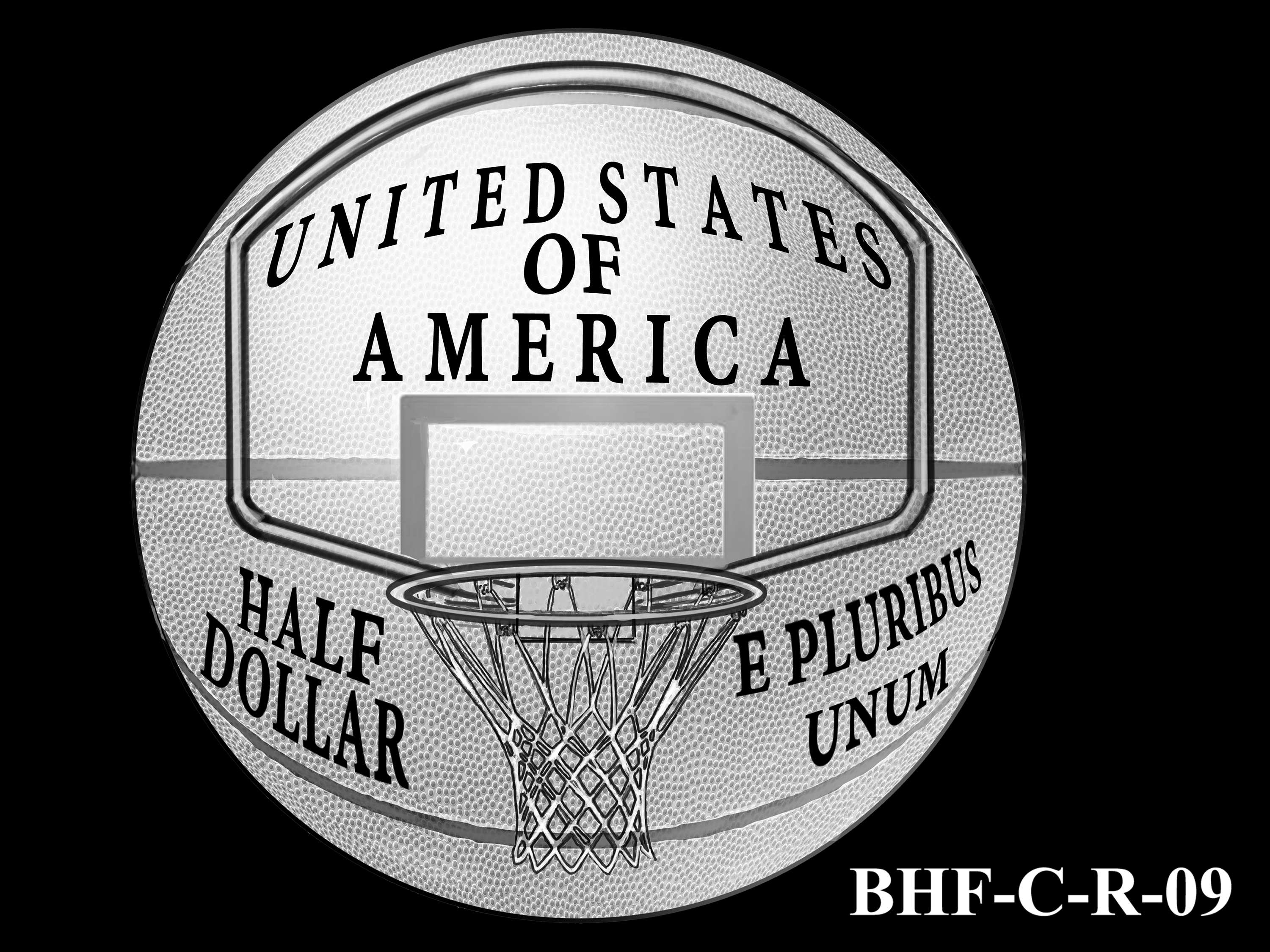 BHF-C-R-09 -- 2020 Basketball Hall of Fame Commemorative Coin Program - Clad Reverse