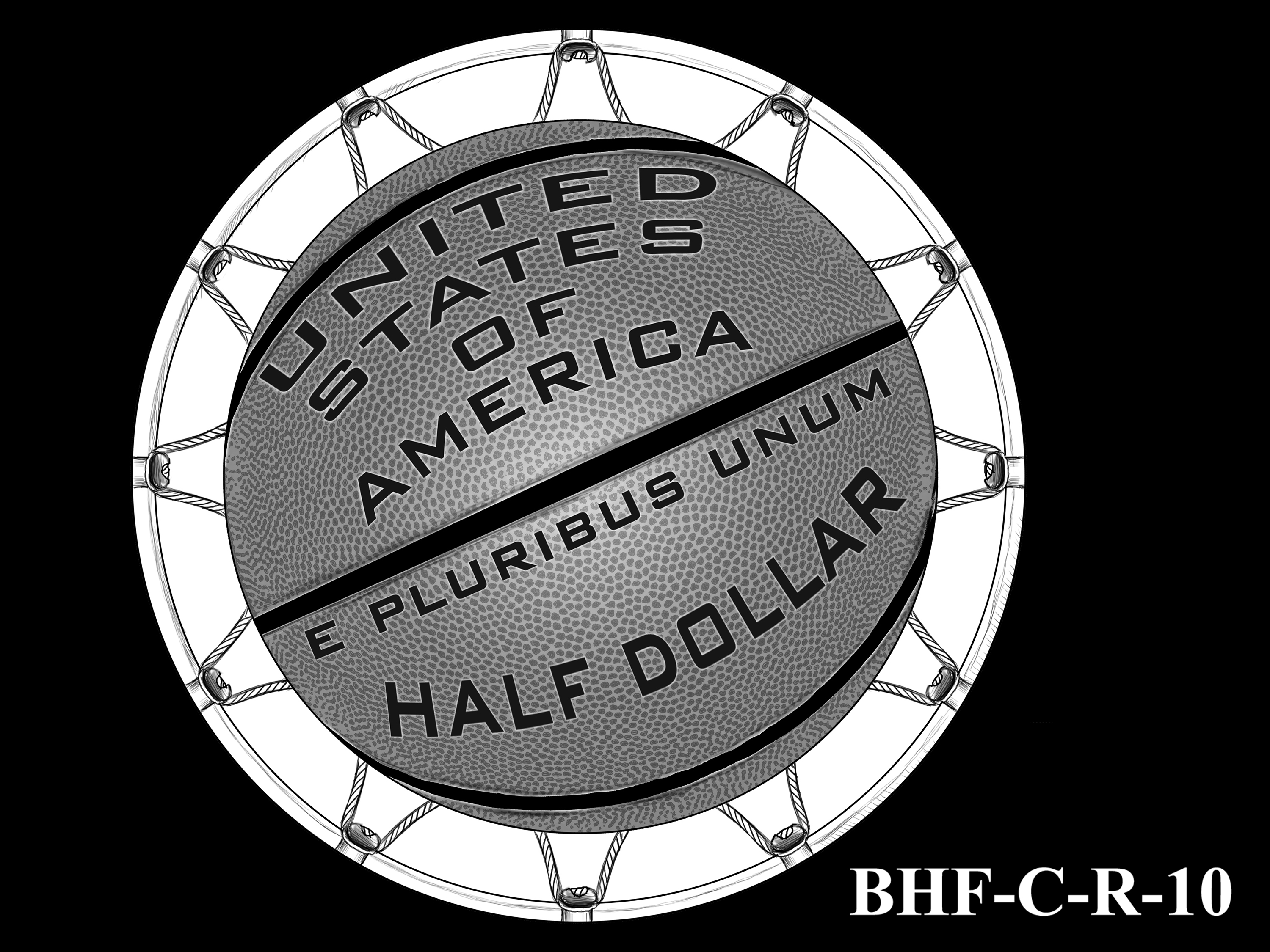 BHF-C-R-10 -- 2020 Basketball Hall of Fame Commemorative Coin Program - Clad Reverse