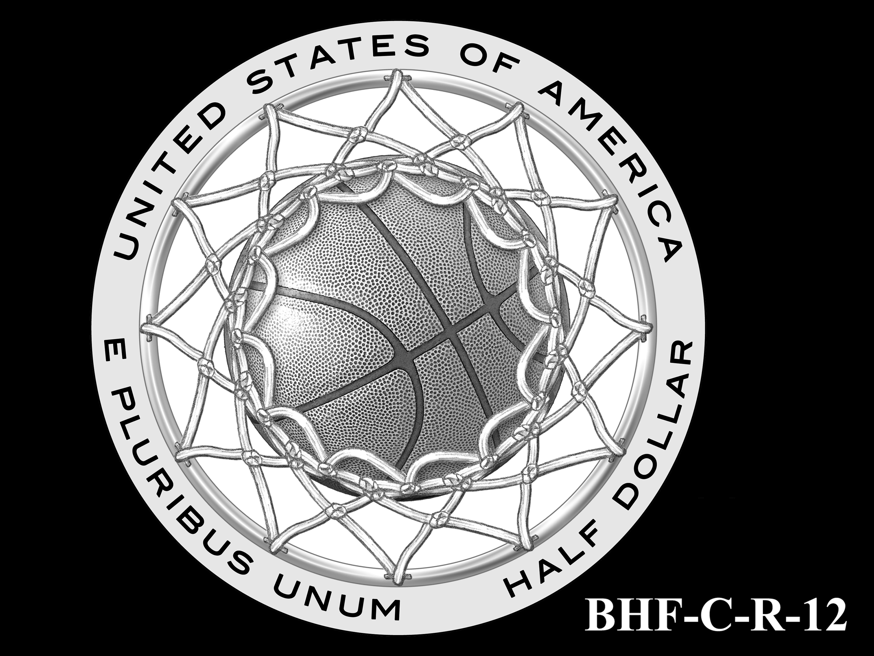 BHF-C-R-12 -- 2020 Basketball Hall of Fame Commemorative Coin Program - Clad Reverse