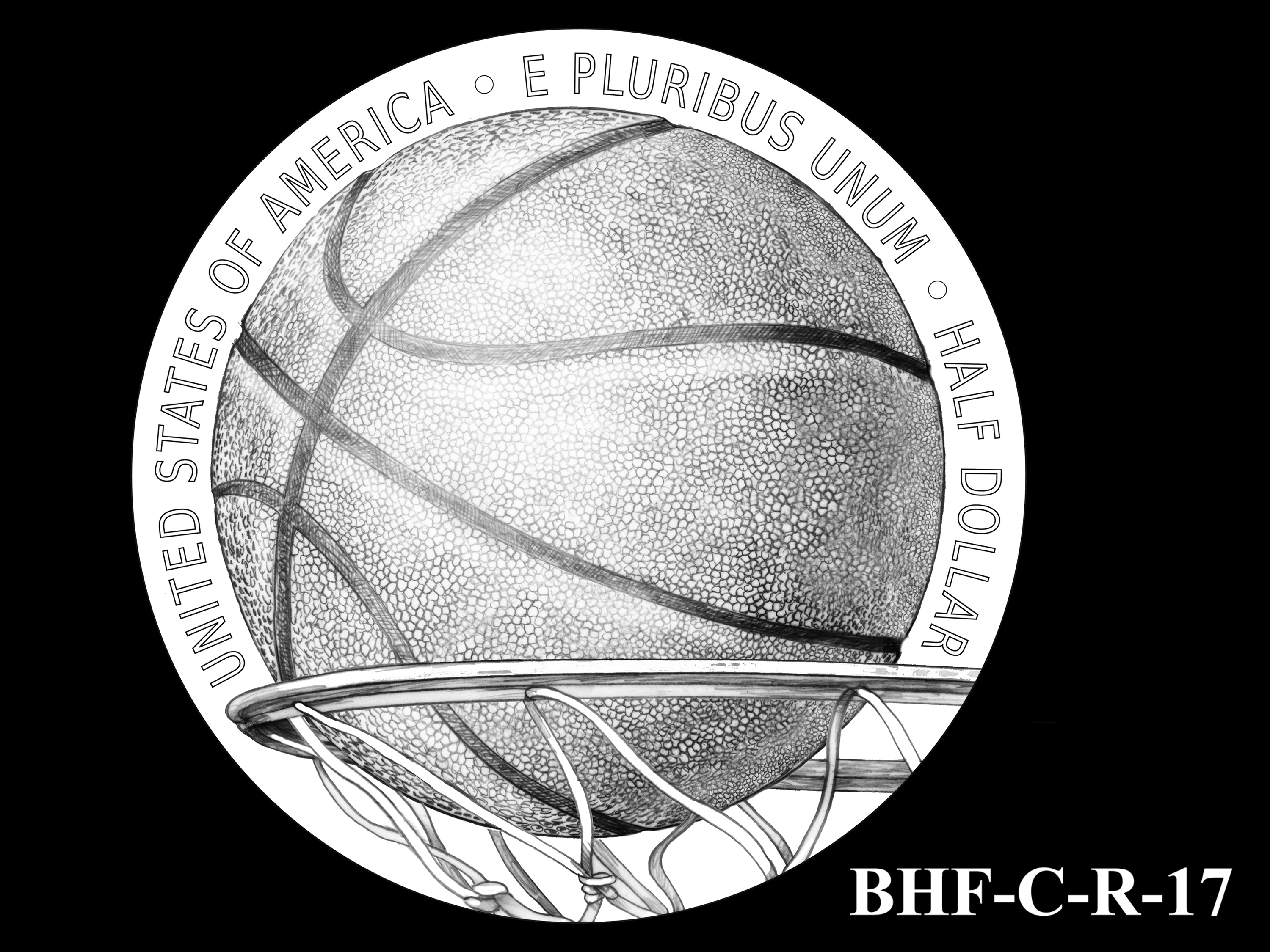 BHF-C-R-17 -- 2020 Basketball Hall of Fame Commemorative Coin Program - Clad Reverse