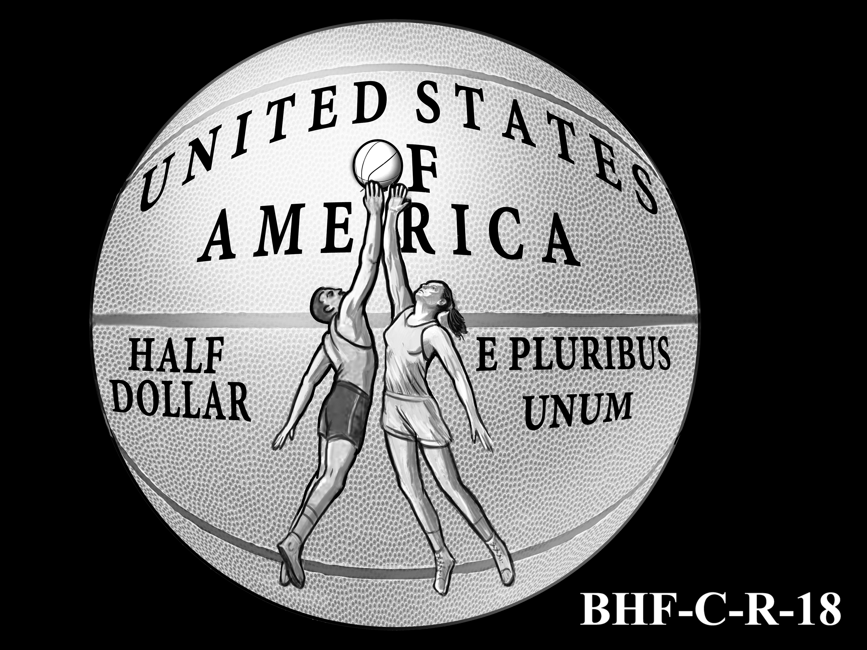 BHF-C-R-18 -- 2020 Basketball Hall of Fame Commemorative Coin Program - Clad Reverse
