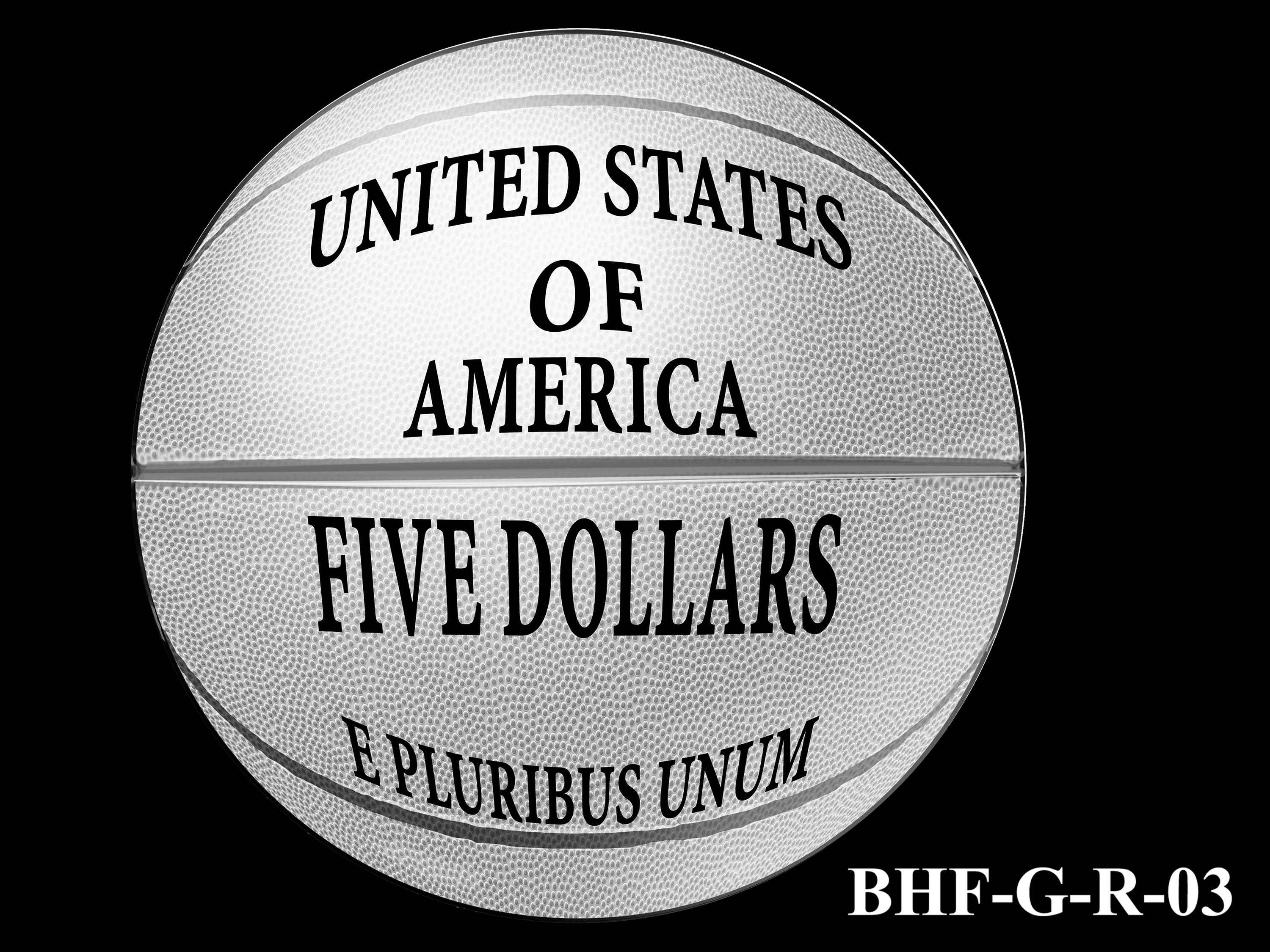 BHF-G-R-03 -- 2020 Basketball Hall of Fame Commemorative Coin Program - Gold Reverse