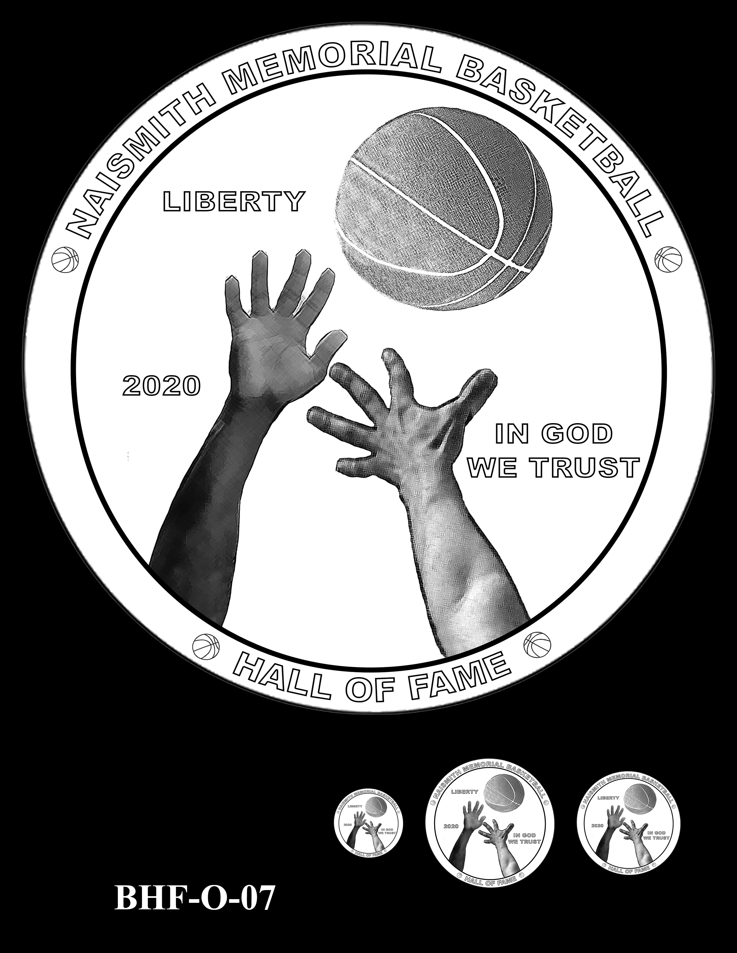 BHF-O-07 -- 2020 Basketball Hall of Fame Commemorative Coin Program - Common Obverse