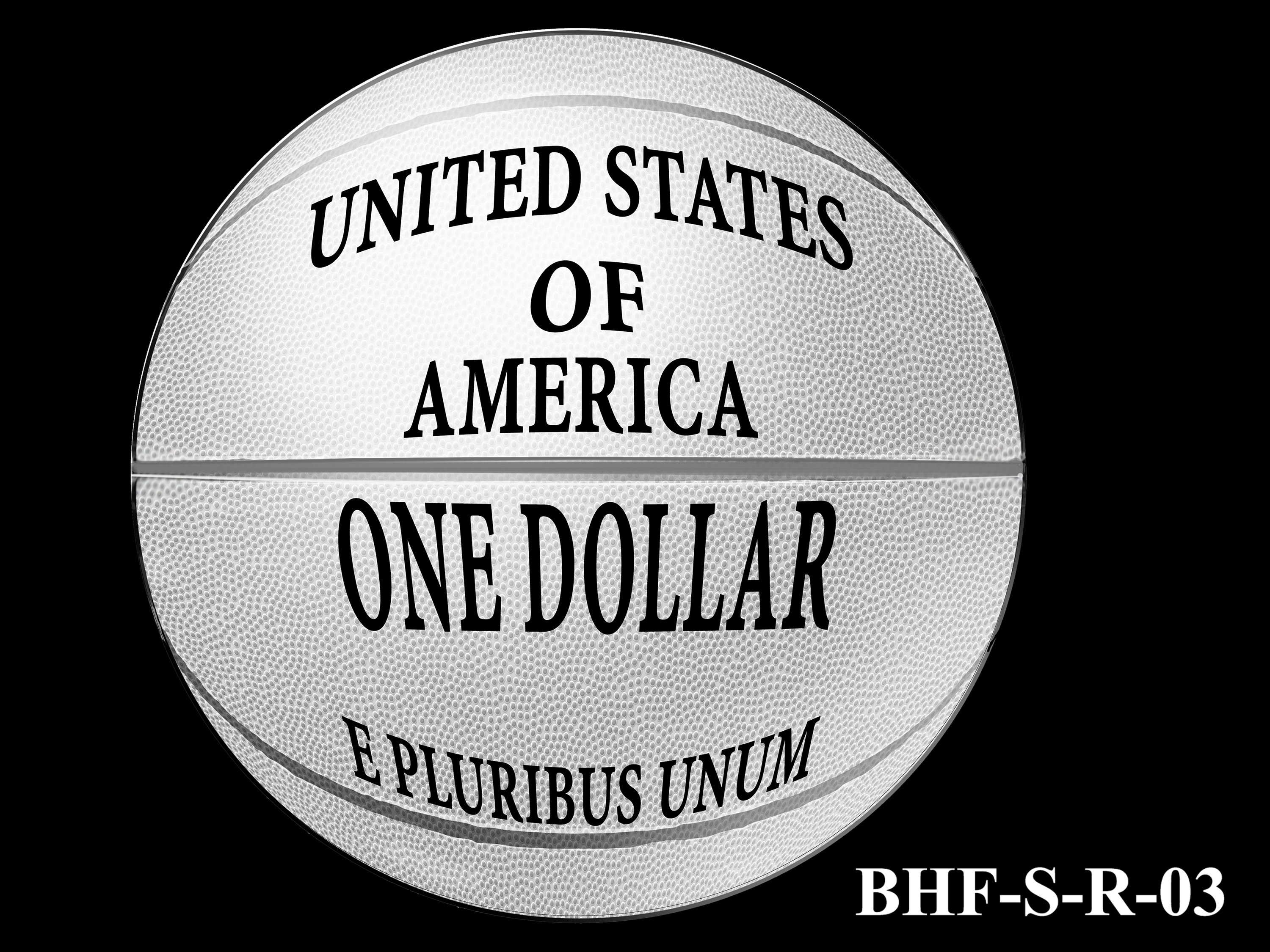 BHF-S-R-03 -- 2020 Basketball Hall of Fame Commemorative Coin Program - Silver Reverse