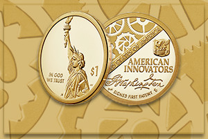 obverse and reverse of 2018 American Innovation $1 Coin