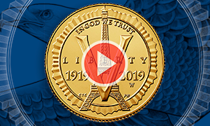 New homepage American Legion 100th Anniversary Commemorative Coin Program gold video feature