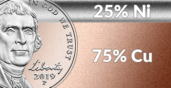 New homepage coin and medal specifications nickel and copper feature