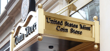 New homepage coin store Washington DC headquarters feature