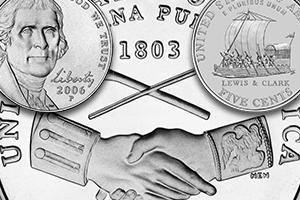collage of Westward Journey nickels