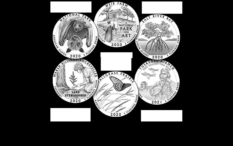 2020-21 America the Beautiful Quarters Program designs