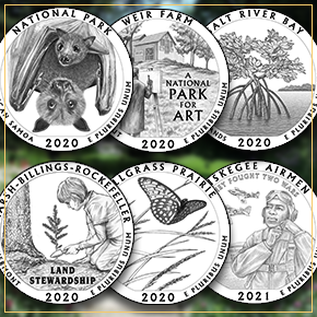 2020-21 America the Beautiful quarter designs