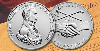 James Monroe medal home page feature