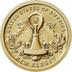 2019 American Innovation One Dollar Coin New Jersey Uncirculated Reverse
