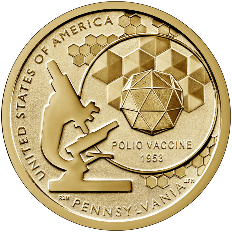 2019 American Innovation One Dollar Coin Pennsylvania Reverse Proof Reverse