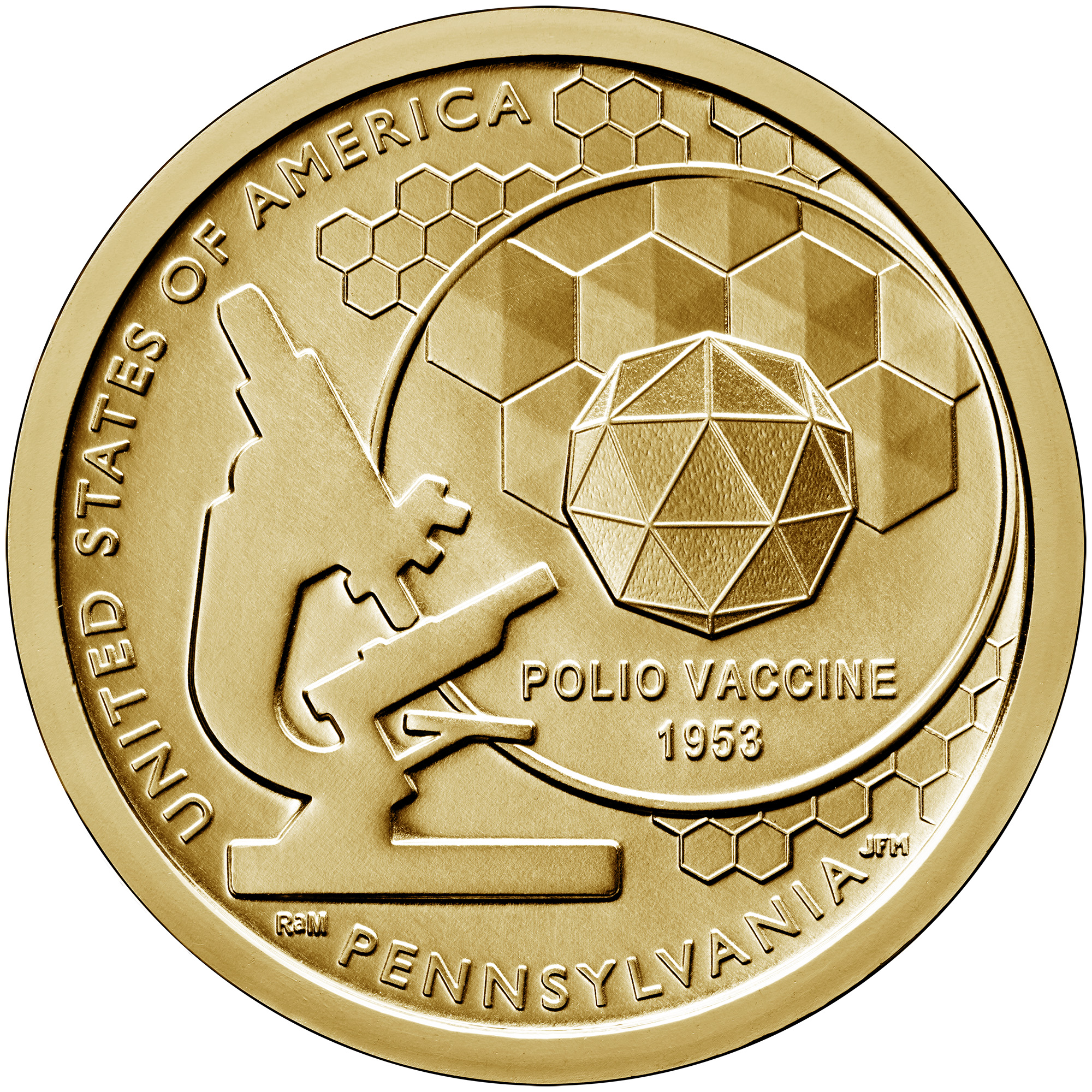 2019 American Innovation One Dollar Coin Pennsylvania Uncirculated Reverse