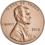 2019 Lincoln Penny Obverse Uncirculated