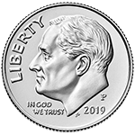 2019 Roosevelt Dime Obverse Uncirculated