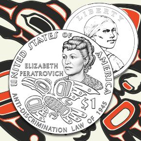2020 Native American $1 Coin design press release Elizabeth Peratrovich image