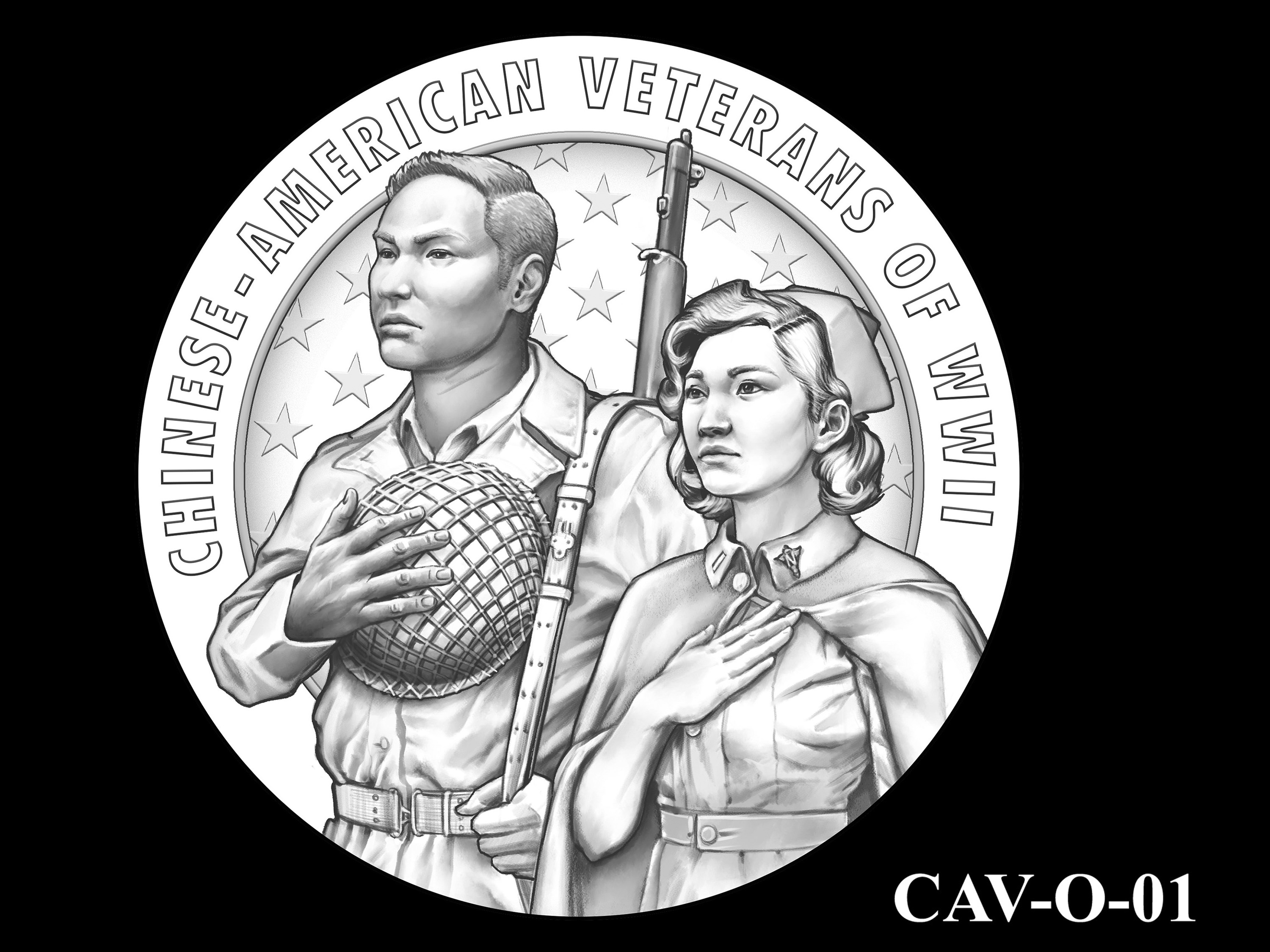 CAV-O-01 -- Chinese-American Veterans of World War II Congressional Gold Medal - Obverse